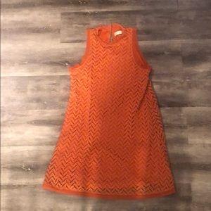Burnt orange sleeveless dress